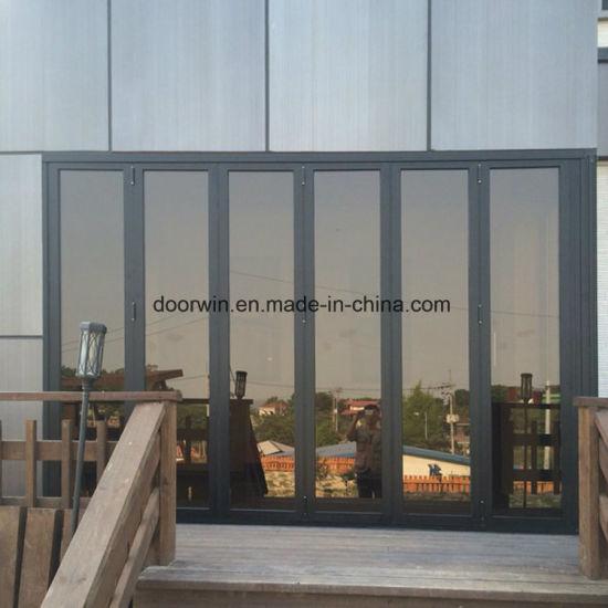 China Waterproof Patio Thermal Break Aluminum Glass Folding Door