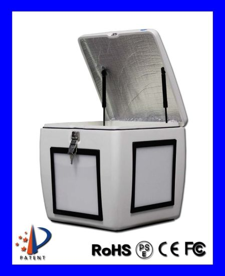 Fast Food Delivery Box, Fiber Glass Pizza Box with LED Light Scooter Motorcycle Tail Box
