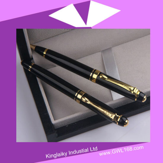 Rose Golden Plating Pen in Set (Gel pen and Ball pen) Kp-035 pictures & photos
