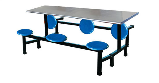 school lunch table. school lunch table with plastic seats