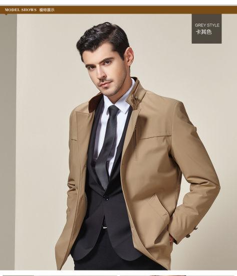 de15f5b5d9b China Factory OEM Plus Size European Style Fashion Men Khaki Jackets ...