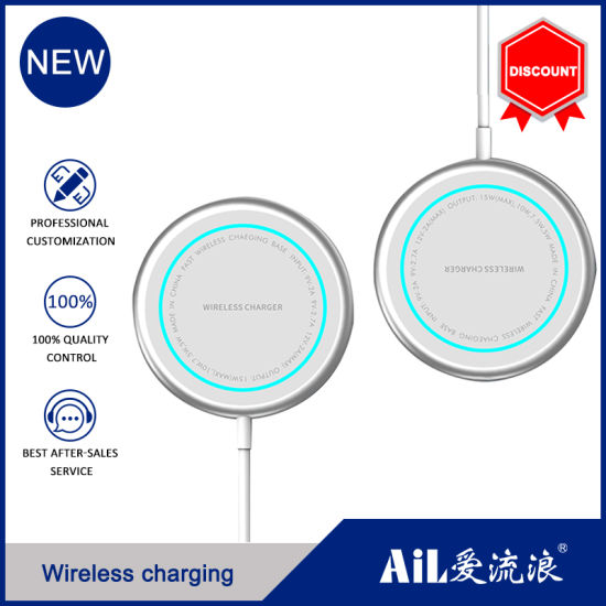 15W Qi Wireless Fast Charger Stand Magnetic Charger for iPhone 12