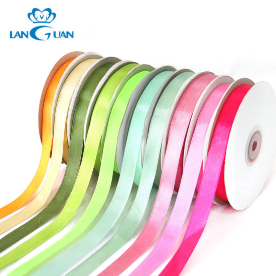 Wholesale Decorative Garment Accessories/Gift Colorful Single/Double Face Polyester Webbing Ribbon pictures & photos
