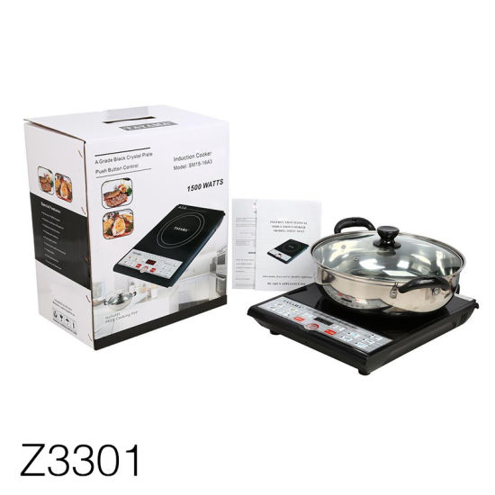 Z3301 Induction Cooker Corrugated Cardboard Box with Plastic Handle