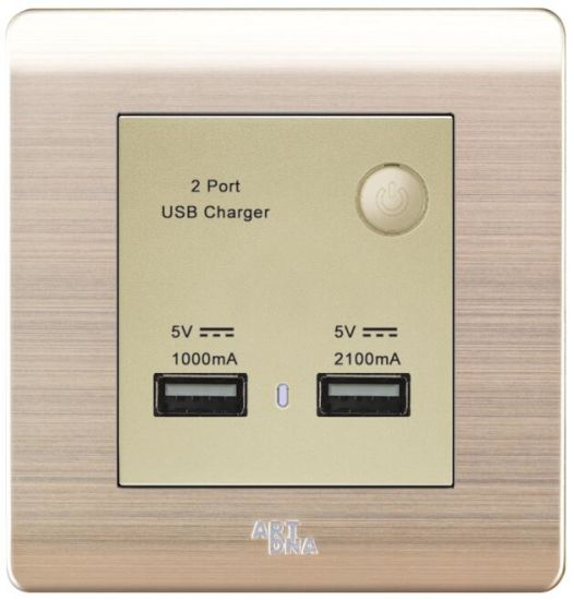 1A &2.1A USB Charger with Switch