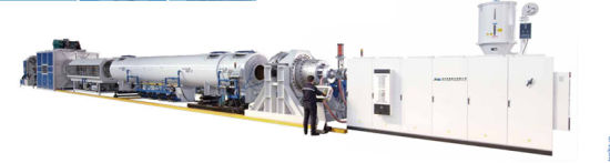 High Output Advanced Specification PE Heat Preservation Pipe Extrusion Line Plastic Machine