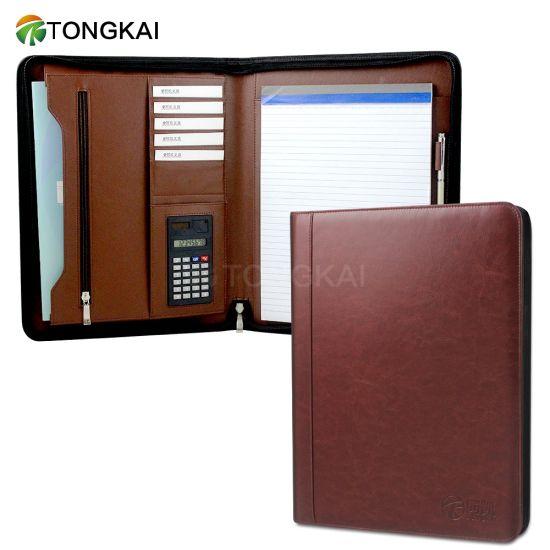 Professional Portfolio File Folder with Zipper