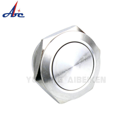 19mm Stainless Steel 1no 2pin Short Body Push Button Switch