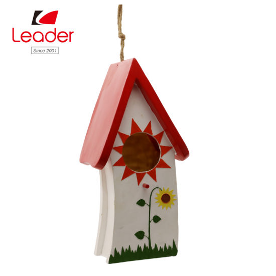 China Best-Seller Polyresin Garden Birdhouse for Lawn and