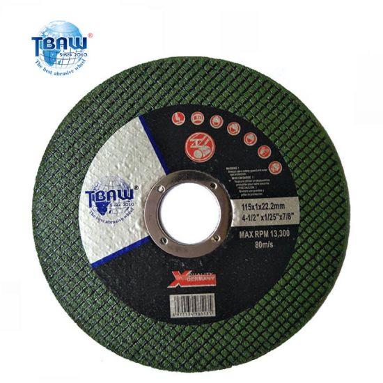 China Factory 4.5 Inch115X1.0X22.23mm OEM Abrasive Polishing Cut-off Disc Flap Tooling Cutting Wheels