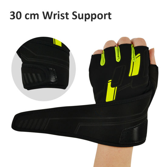 Half finger Gym Workout Cycling Gloves with Mesh on Back 2 sizes 2 colours