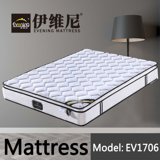 Bonnell Spring Coil Coir Compress Roll up Hotel Double Bed Foam Mattress for Wholesale