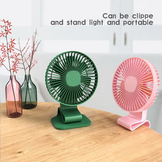 Rechargeable Battery Operated Clip On Mini Desk Fan Stroller Fan with USB