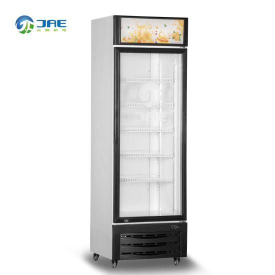 Wholesale Customized LED Lightbox Upright Glass Door Beverage Display Cooler