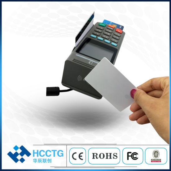Support Magnetic Stripe Contactless Contact Smart Cards Desktop POS Pin Pad (Z90PD) pictures & photos