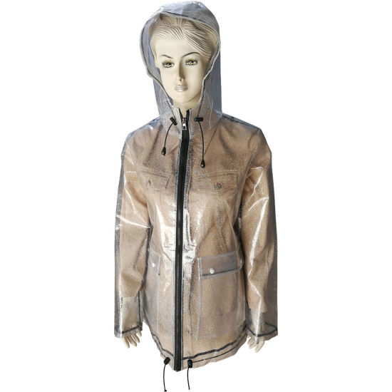 EVA Rain Jacket for Women Popular with Breathable and Water Resistant
