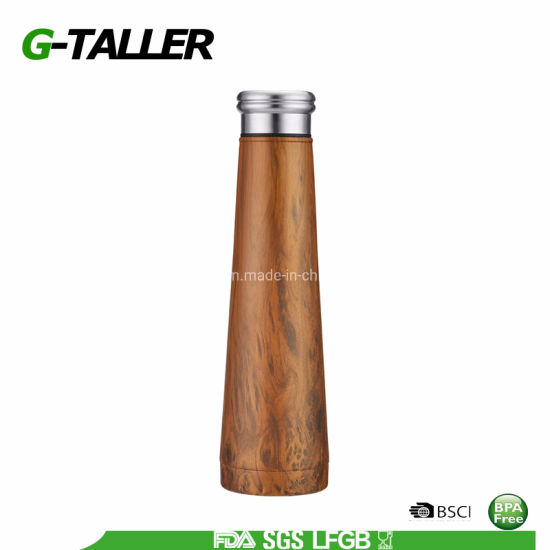 500ml Stainless Steel Insulated Sports Water Bottle with Metal Lid