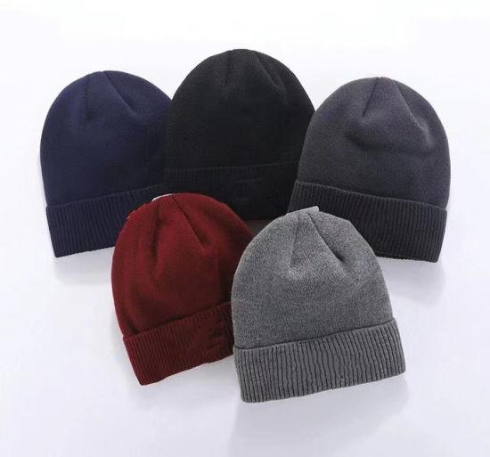 Wholesale Plain Acrylic Winter Warm Custom Knitted Hat