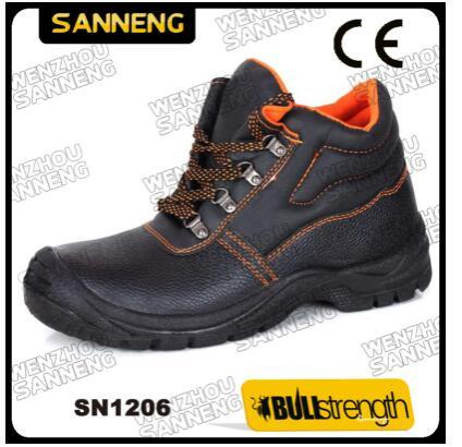 Ce Industrial Basic Style Safety Shoe Factory Price Embossed Leather Hot Sale Wholesale for Worker Construction Work Footwear Steel Toe Cap Best Quality Sn1206