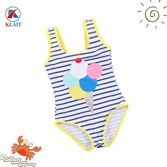 8d34b5e5f5 Factory OEM Lovely Strip Print Little Baby Sublimation Girls One Piece  Swimsuit
