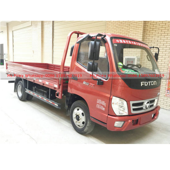 103HP Foton Petrol Engine Cargo Truck Mini Foton Car with Cargo for Sales