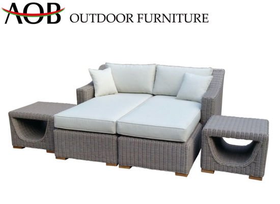 Chinese Modern Outdoor Garden Home Furniture Leisure Rattan Wicker Lounge Set Poolside All Weather Daybed pictures & photos