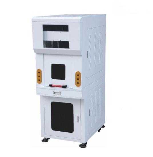 Motorized Door Enclosed Laser Marking Cabinet for Fiber Laser