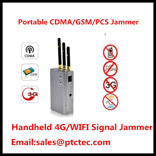 Smart Handheld Cell Phone Jammer, Signal Jammer for Mobile, Pocket Jammer  for All Frequencies