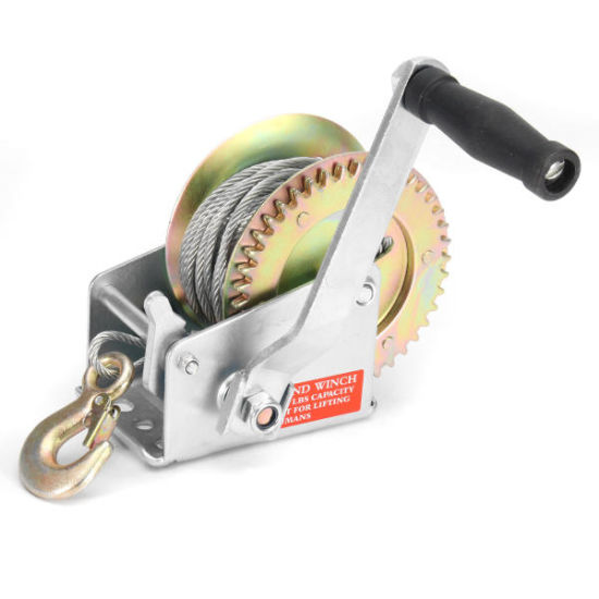 Steel Cable Portable Boat Trailer Manual Hand Winch