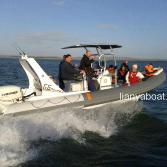 China Liya 6 6m Center Console Motor Boat Hypalon Inflatable