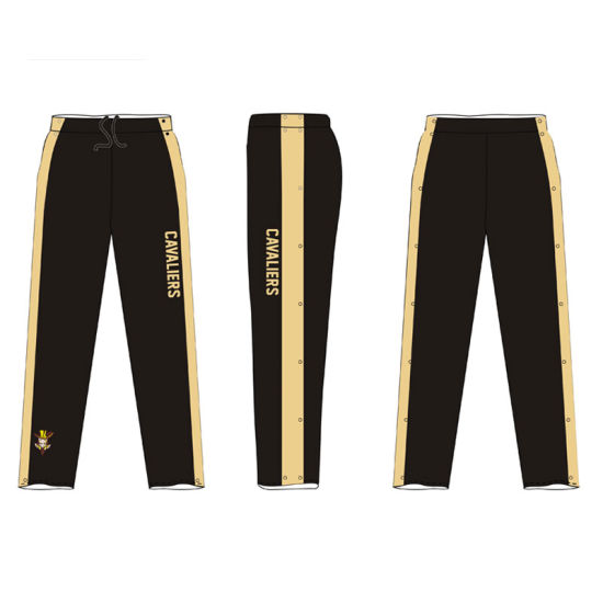 Black Warmup Track Training Pants for Retail Store pictures & photos