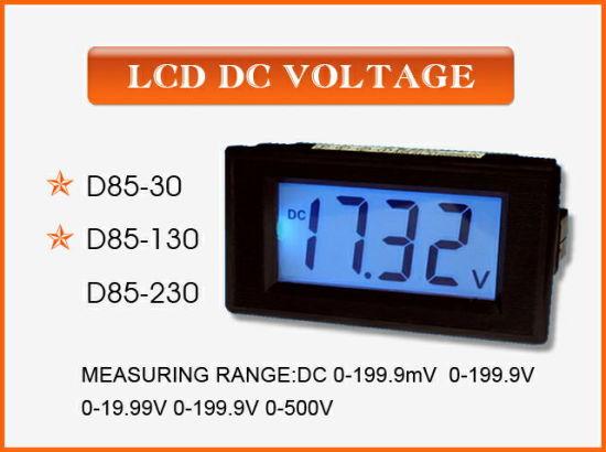 China D85 30 Lcd Display Digital Panel Meter Voltmeter China Panel Meter Dc Voltage Panel Meter