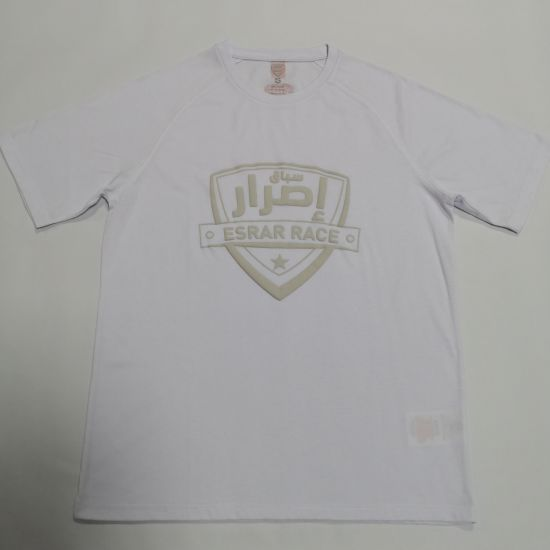 Puff Print Round Neck 100% Poly Mesh Sports Shirts Mens Customized T Shirts
