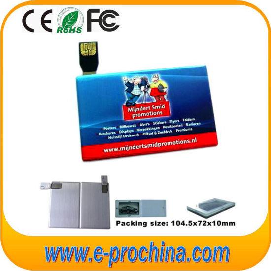 Custom Business Name Card Shaped USB Flash Drive, Thin Slim Metal Credit Card Pen Drive, Promotional Card USB Memory Stick