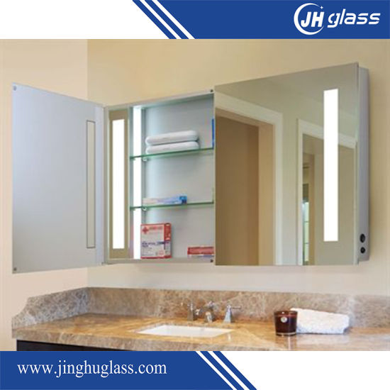 Bathroom Vanity Cabinet with LED Mirror for Hotel pictures & photos