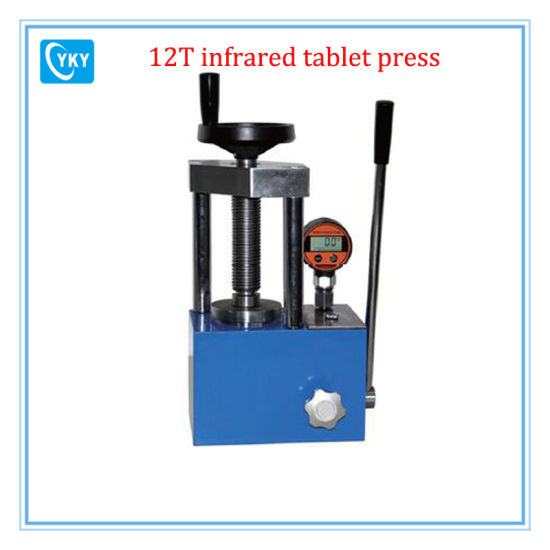12t Small Laboratory Portable Powder Infrared Tablet Press pictures & photos