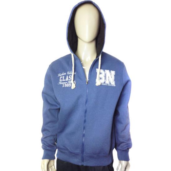 Top Men's Hooide Sweatshirt Fleece Jacket