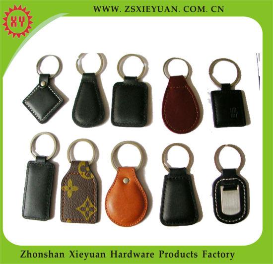 Wholesale Customized Logo Leather Rubber Keychain