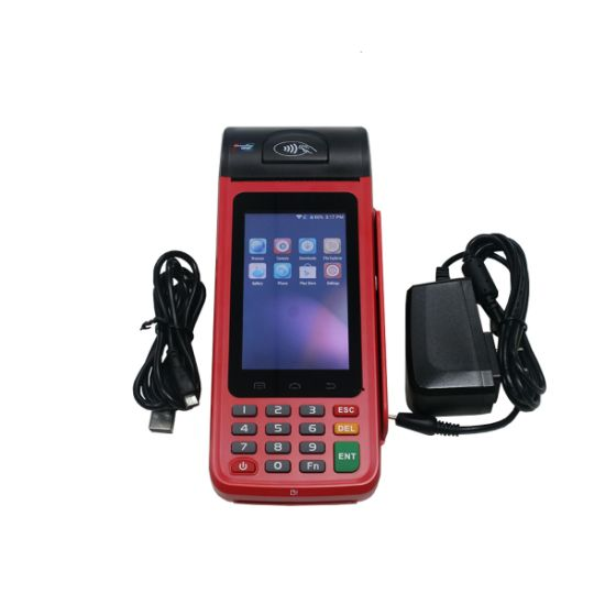 Printer Barcode Reader Mobile Payment Handheld Android POS Terminal