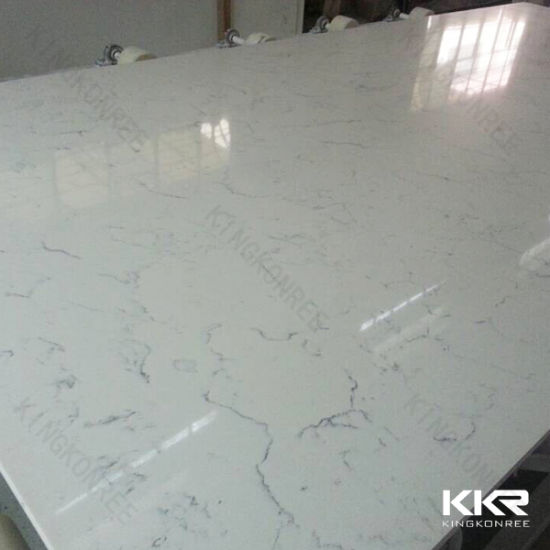 Engineered Quartz Stone Slabs with Ce SGS Certificates Approved Quartz Stone Table Top