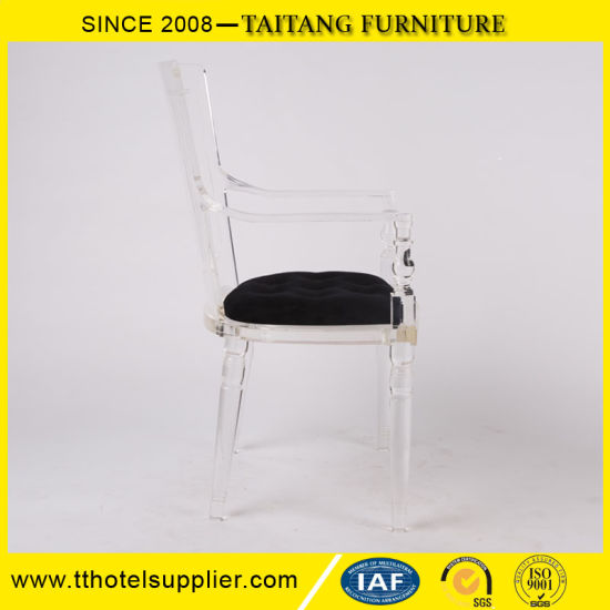 Model Design Graceful Clear Acrylic Arm Chair for Wedding Event pictures & photos