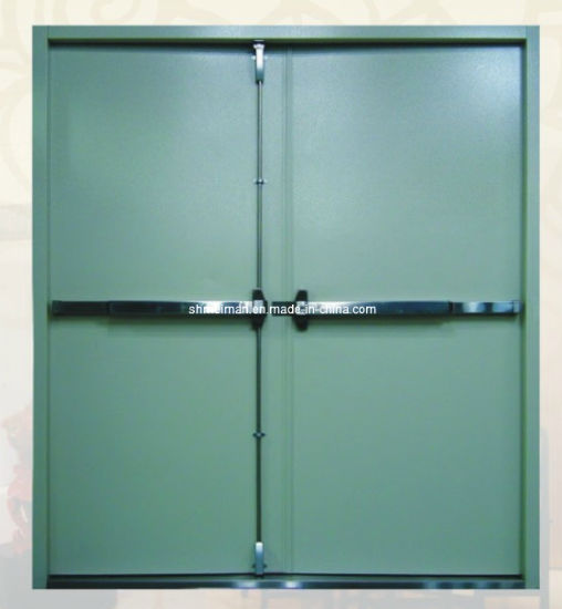 Ul Certified Industry Security Interior Fire Rated Exit Doors With Window