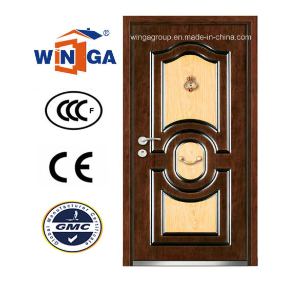 Gentil DIY New Outside MDF Security Steel Wood Armored Door (W A13) Pictures U0026
