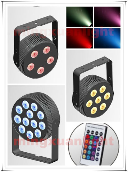 China New 12PCS Rgbwauv 6in1 LED PAR Light with Remote Controller