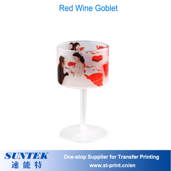 China Sublimation Blank Matt Glass Red Wine Goblet - China