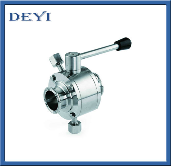 Stainless Steel Sanitary Threading Straight Ball Valve pictures & photos