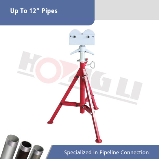 Hongli Roller Head Pipe Support for Max 12 Inch Pipes (1109)