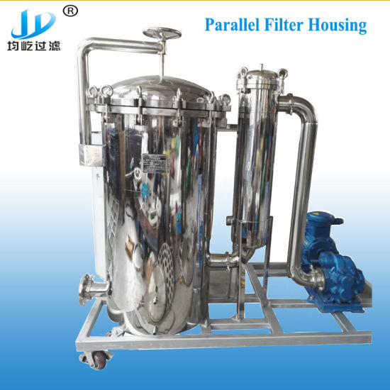 Multi Stage Stainless Steel High Quality Water Filtration Duplex Parallel Bag Cartridge Filter Housing pictures & photos
