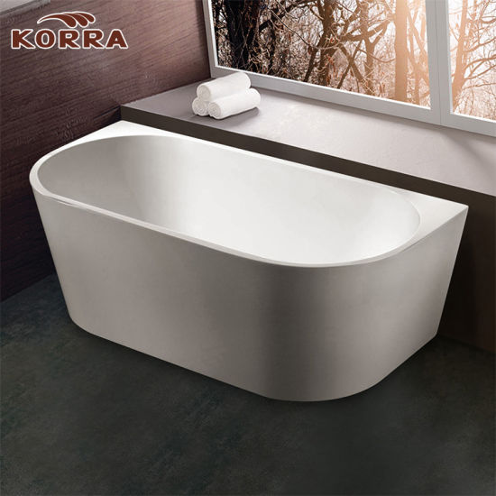 Cheap Freestanding Acrylic Bathtub With Stainless Steel Frame Support