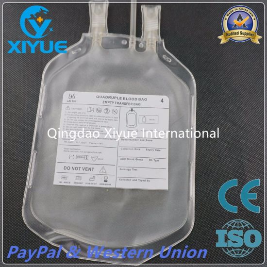 Ce&ISO Roll Welding Film Quadruple Blood Bag with Filter